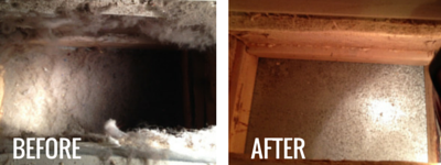 DUCT CLEANING before&after